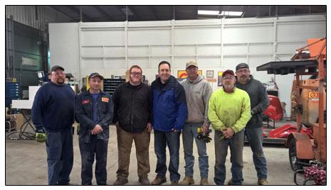 Senator Jake Corman with Hawbaker, Inc employees